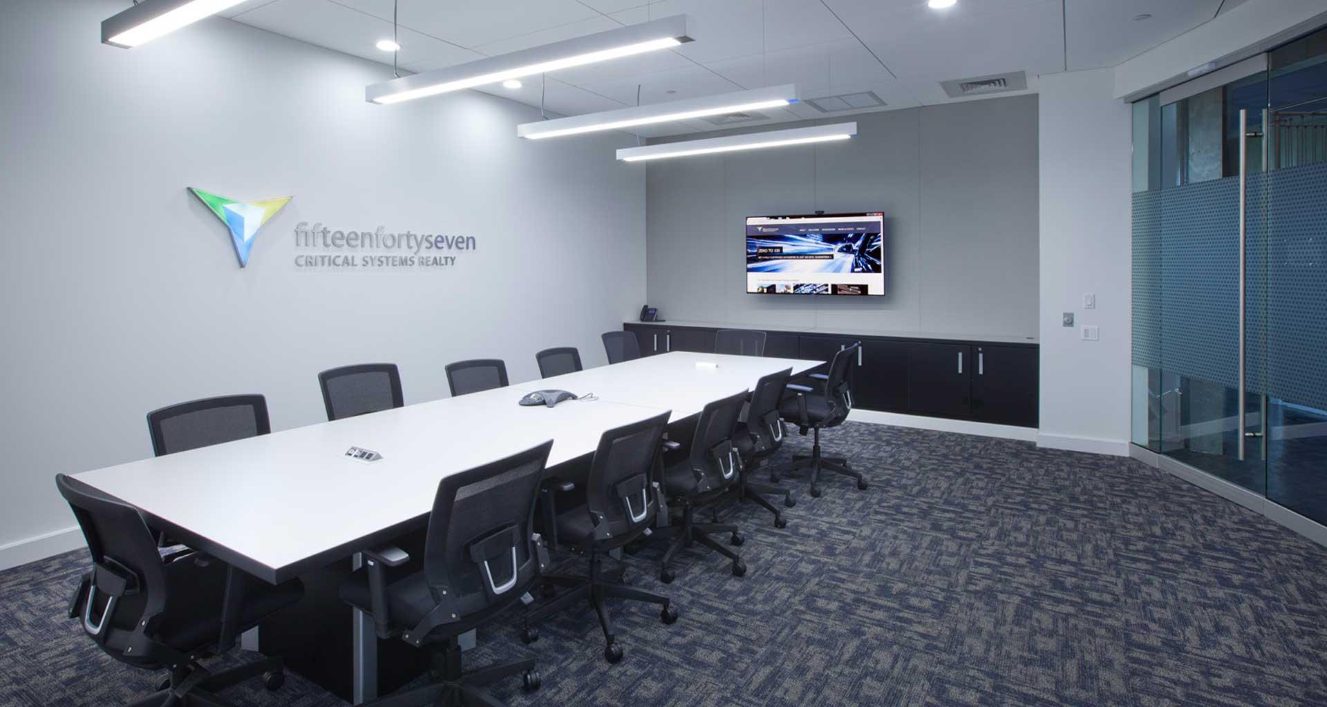 1547's Orangeburg New York data center conference room