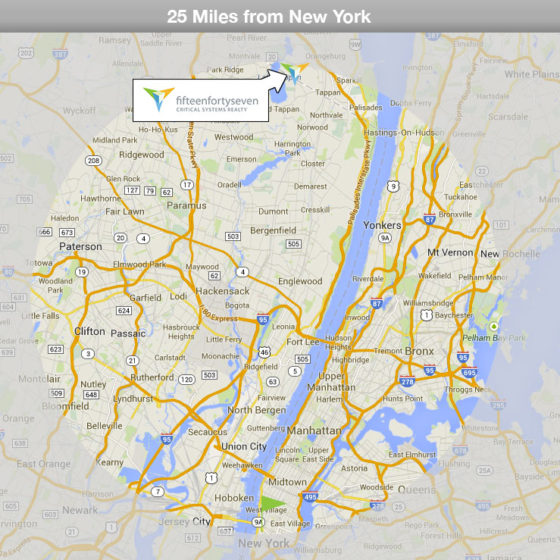 Our Orangeburg, NY data center is less than 25 miles from Manhattan